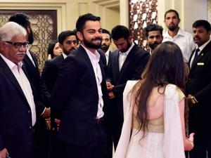 Virat Kohli with team mates  during the BCCI Annual awards in Bengaluru