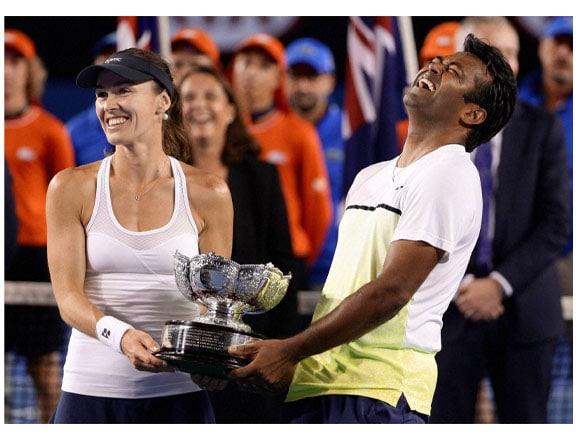 Australian Open tennis championship, Martina Hingis,  Leander Paes, Kristina Mladenovic, Daniel Nestor