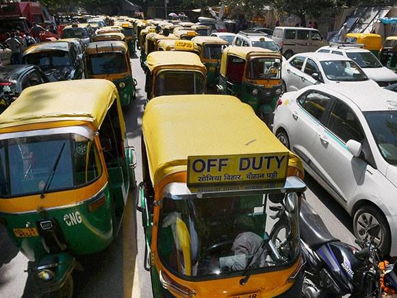 drivers protest rally, Auto, taxi, Arvind Kejriwal, Jantar Mantar