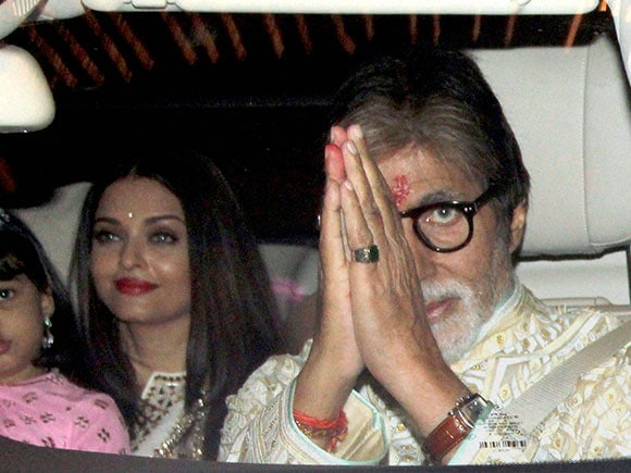 Aishwarya Rai, Amitabh Bachchan, Diwali party, Celebrity Diwali party, Bollywood Diwali party