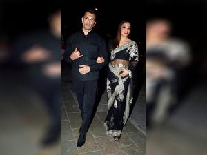 Bipasha Basu and Karan Singh Grover arrive to attend Amitabh Bachchan's Diwali party