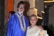 Bollywood mega actor Amitabh Bachchan with his wife Jaya Bachchan