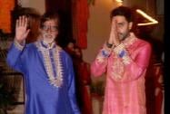 Mega actor Amitabh Bachchan with Abhishek Bachchan