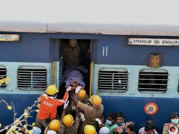 Rescue work, Ernakulam express,  Bengaluru City, Ernakulam train,  Train derailed, Anekal