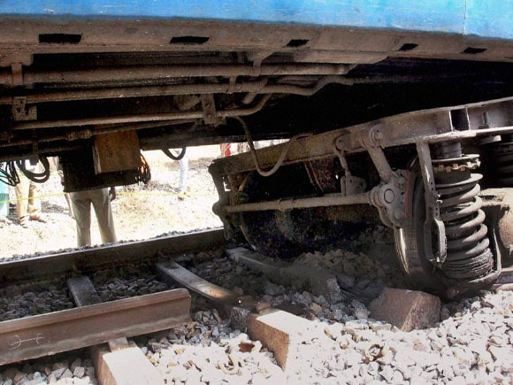 Damaged track, Anekal,  Ernakulam train, Train derailed