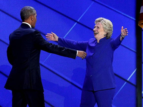 Hillary Clinton, Barack Obama, President Barack Obama, Democratic presidential candidate, Democratic National Convention, Philadelphia