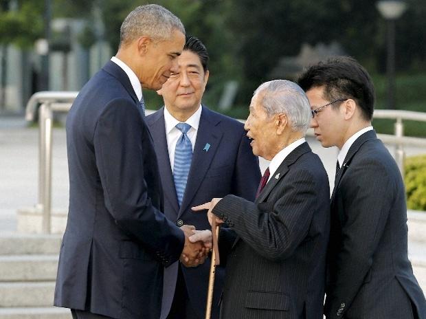 Barack Obama, Obama, Shinzo Abe, Hiroshima, Japan, victims, survivors, atom bomb