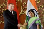 Belarus Foreign Affairs Minister Makei meets Sushma Swaraj