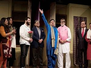 Amitabh Bachchan  and Shatrughan Sinha share the stage at NCPA theatre