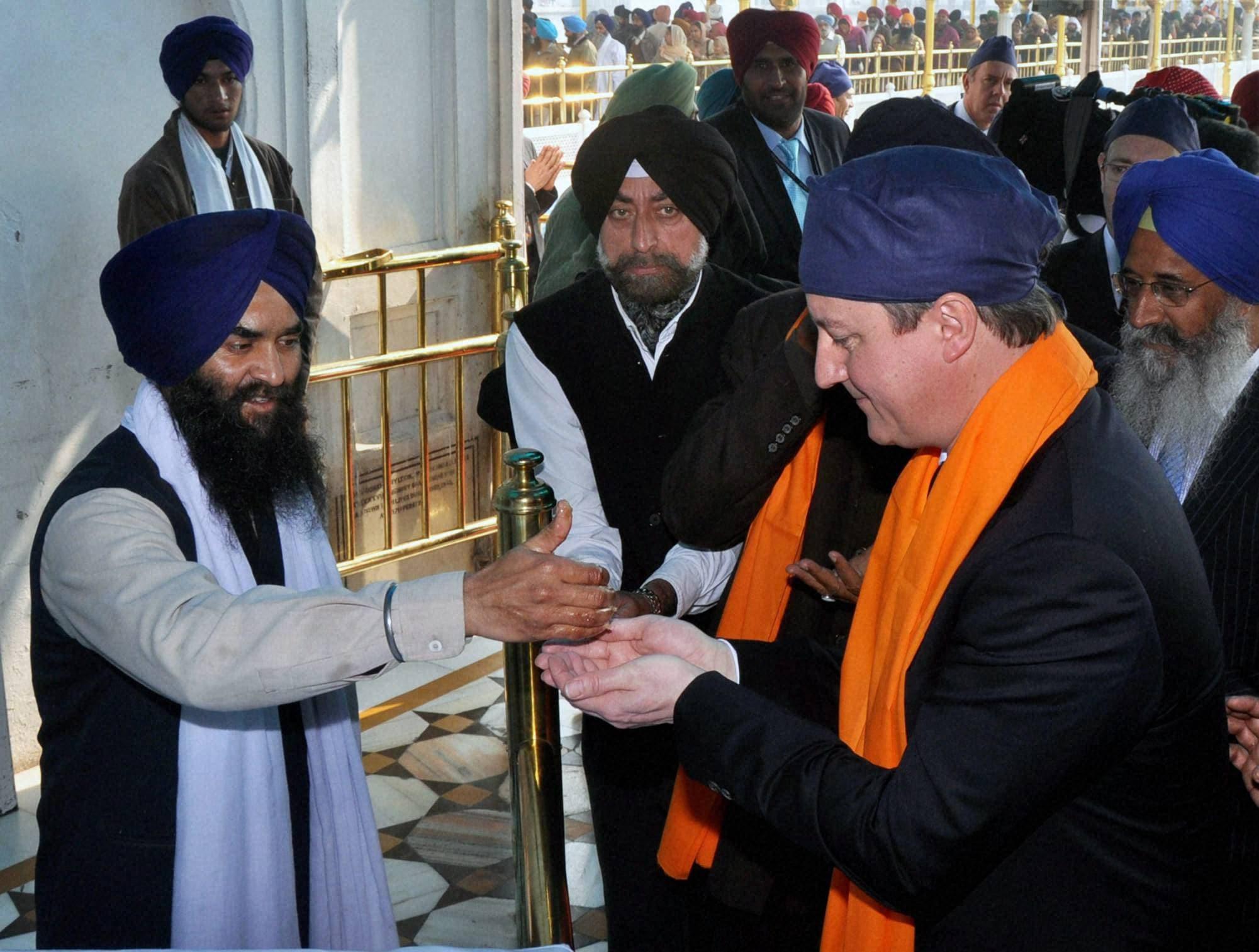 David Cameron, Golden Temple, Amritsar,