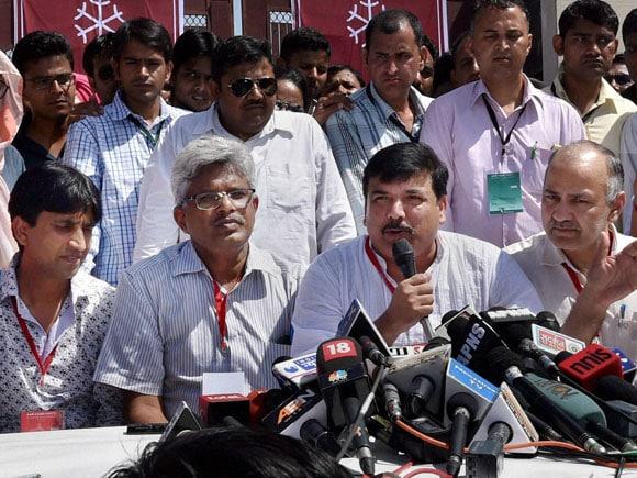 AAP, Arvind Kejriwal, Prashant Bhushan, Yogendra Yadav, Medha Patkar, Delhi, Aam aadmi Party, Manish Sisodia, Sanjay Singh