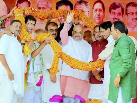 BJP President, Amit Shah, Election rally, Public rally, Bihar Election, Bihar Election date, Bihar Poll, Bihar Elections 2015, Bihar polls