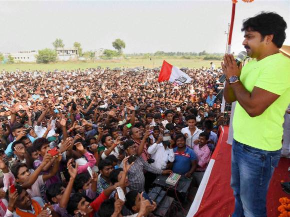 Bhojpuri actor Pawan Singh, Election rally, Public rally, Bihar Election, Bihar Election date, Bihar Poll, Bihar Elections 2015, Bihar polls