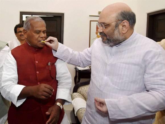 Amit Shah, Jitan Ram Manjhi, Bihar Election 2015, Bihar Assembly Elections, Bihar Vidhan Sabha election, Bihar