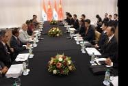 Prime Minister Narendra Modi with President of China Xi Jinping during the bilateral meeting at Fortaleza in Brazil