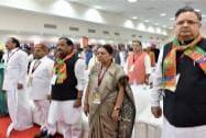 Chattisgarh CM Raman Singh, Gujrat CM Anandiben, Jharkhand CM Raghubar Das