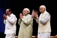 Narendra Modi, LK Advani, Arun Jaitley and Venkaiah Naidu