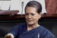 Sonia Gandhi in the Lok Sabha