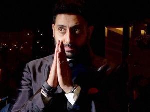 Actor Abhishek Bachchan attended Preity Zinta's wedding reception in Mumbai