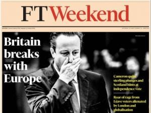 Brexit: How the media in UK reacted to Britain's exit from EU