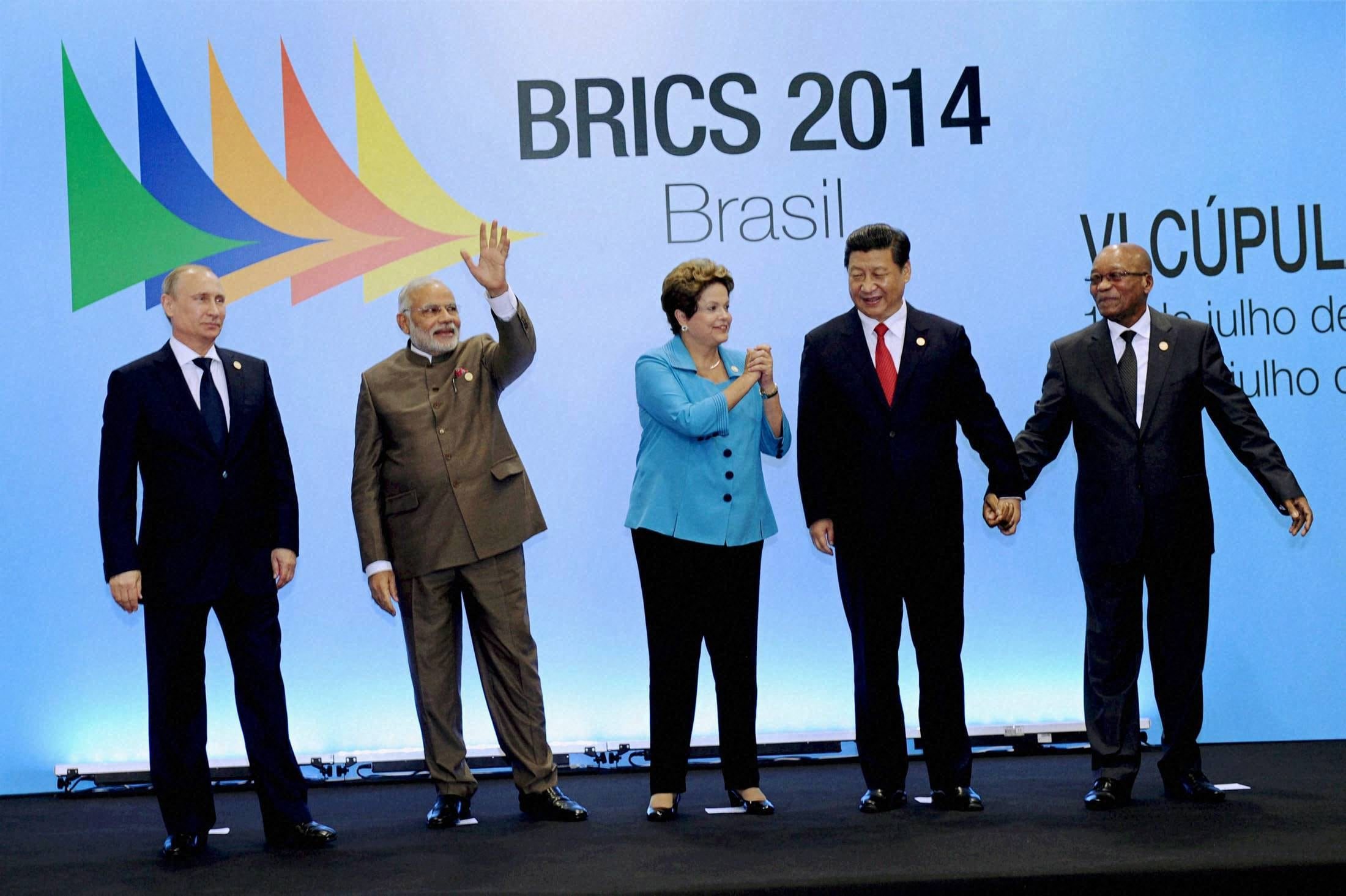 Prime Minister, Narendra Modi, Russian President, Vladimir Putin, Brazilian President, Dilma Rousseff, Chinese President, Xi Jinping, South African, President Jacob Zuma,  6th BRICS summit, Ceara events centre, Fortaleza, Brazil
