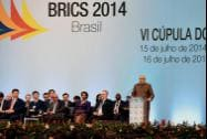 Prime Minister Narendra Modi addresses the plenary session of 6th BRICS Summit in Ceara events centre, Fortaleza in Brazil on Tuesday