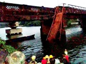 Rescue and relief works in progress after the Sanvardem Bridge collapsed