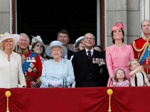 Members of Britain's Royal family