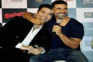 Akshay Kumar and Sidharth Malhotra with filmmaker Karan Johar