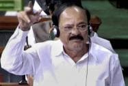 Parliamentary Affairs Minister Venkaiah Naidu speaks in the Lok Sabha