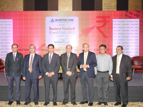 Business Standard, Business Standard Fund Cafe, SBI Mutual Fund, UTI Mutual Fund, Reliance Mutual Fund, Birla Sun Life, Kotak Mutual Fund, HDFC Mutual Fund, Birla Sun Life AMC, ICICI Prudential AMC, Milind Barve, Dinesh Kumar Khara, Sundeep Sikka, Nimesh Shah, Leo Puri