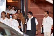 Union ministers  Nitin Gadkari , Kalraj Misra,   D.V. Sadananda Gowda and Najma Heptulla