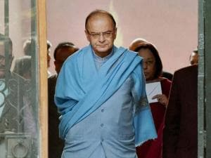 Arun Jaitley after a Cabinet meeting at South Block in New Delhi
