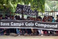Campa Cola residents stage a protest