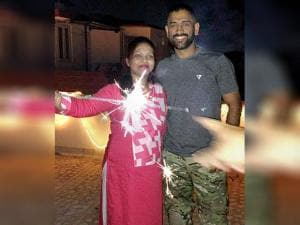 Mahendra Singh Dhoni celebrates Diwali festival with his close friends