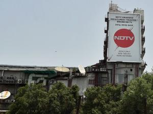 A view of NDTV office in New Delhi