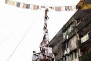 Govinda mandal breaking the Dahi Handi