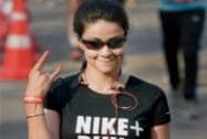 Bollywood actor Gul Panag participates in Airtel Delhi Half Marathon 2014