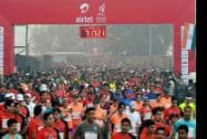 Participants of the Airtel Delhi Half Marathon 2014
