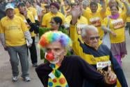 Senior-citizens participate in Airtel Delhi Half Marathon 2014