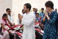Congress Party Vice-President Rahul Gandhi with his sister Priyanka Vadra at a charity event