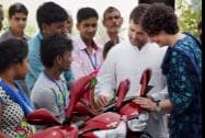 Congress Vice President Rahul Gandhi and Priyanka Vadra at a charity event