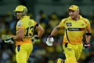 Chennai Super Kings' Brendon McCullum and Faf du Plessis