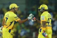 Chennai Super Kings' Skipper MS Dhoni and D Bravo