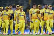 Chennai Super Kings players celebrating their win over Royal Challengers Bangalore