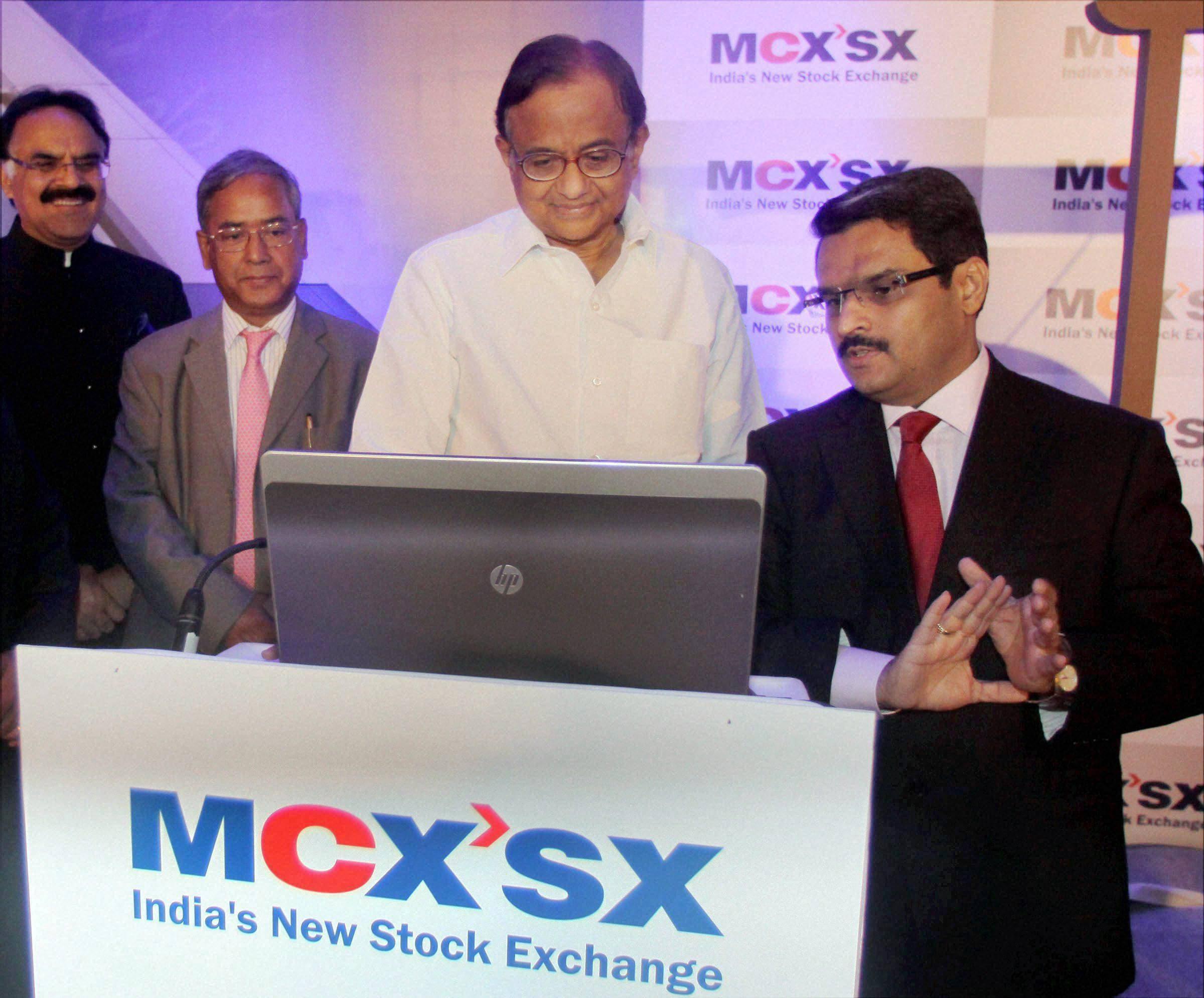U K Sinha, P Chidambaram,  MCX'SX Equity