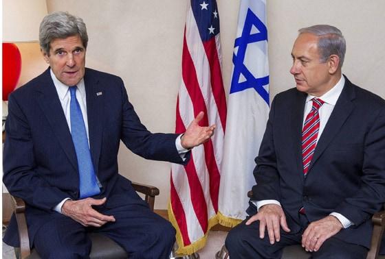 US Secretary of State John Kerry and Israeli Prime Minister Benjamin Netanyahu