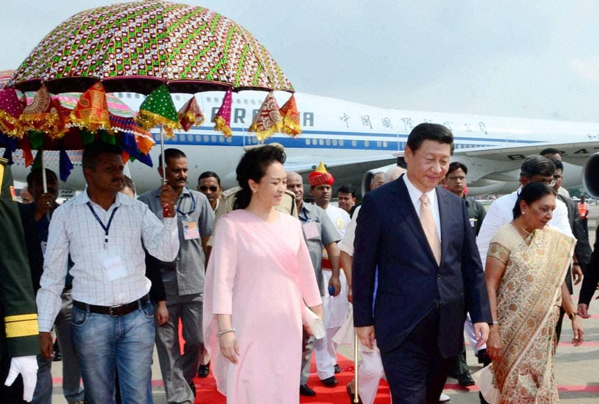 Chinese, President, XI Jinping, Gujarat CM, Anandiben Patel, exchange, greetings, Chinese, officials