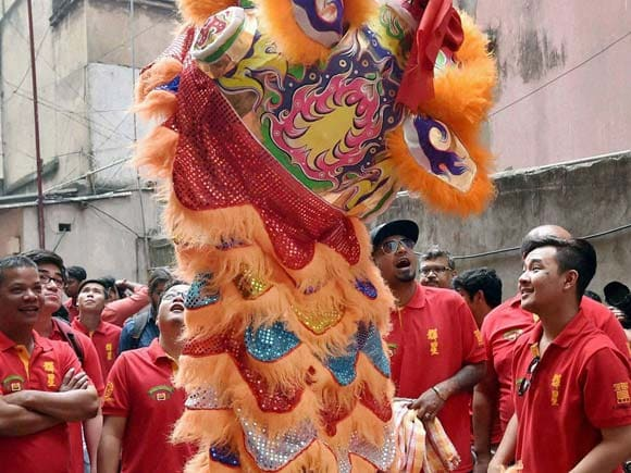 Chinese pepole , Chinatown, Culcatta, Kolkatta , New Year, Celebrate , Photos Gallery