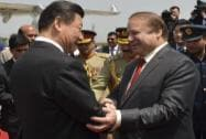Pakistan's Prime Minister Nawaz Sharif's receives Chinese President Xi Jinping